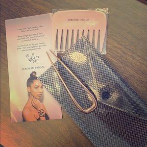 DEBORAH PAGANI LARGE HAIR PIN in ROSE, Comb & Bag
